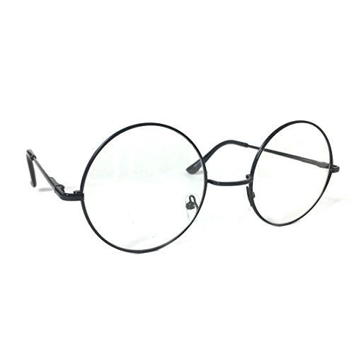 Round Frame Clear Lens Vintage Circle John Lennon Style Retro Clear Lens Circular - Style Lennon Hat John