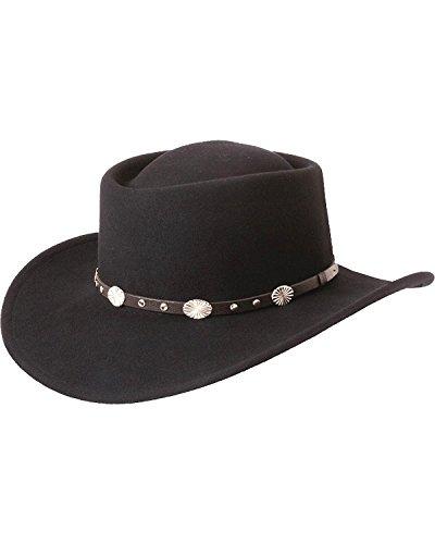 Hat Gambler Felt (Silverado Men's Gambler Wool Felt Hat Black Small)
