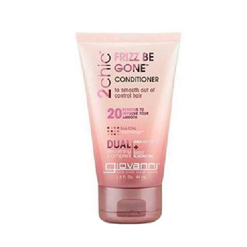 Giovanni 2chic Frizz Be Gone Shea Butter & Sweet Almond Oil Conditioner, Travel Size, 1.5 Ounce