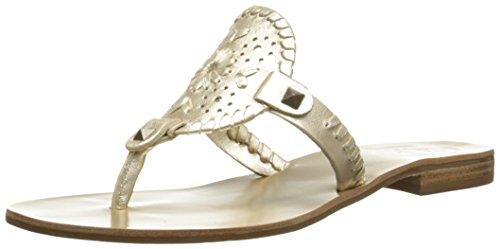 Jack Rogers Women's Georgica Sandal, Platinum, 8 M US