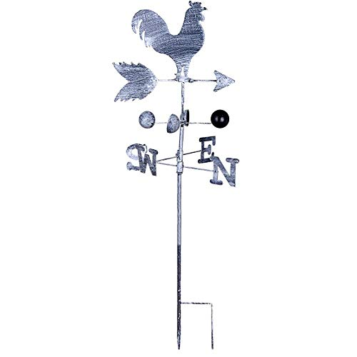 Rooster Weather Vane Metal Weather Vane with Rooster Ornament Wind Vane Weather Vain for Roof Weather Vanes for Roofs Rooster Weathervane Traditional Metal Iron Cock Wind Vane (Color Random Delivery) ()