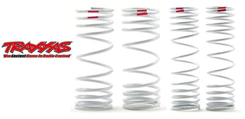 Traxxas Front Spring Shock - Traxxas One Pair Front & Rear Progressive Shock Springs Pink +10% Rate 6863 6867
