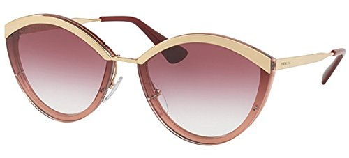 Prada PR07US 967094 Gold/Pink PR07US Oval Sunglasses Lens Category 2 Size ()