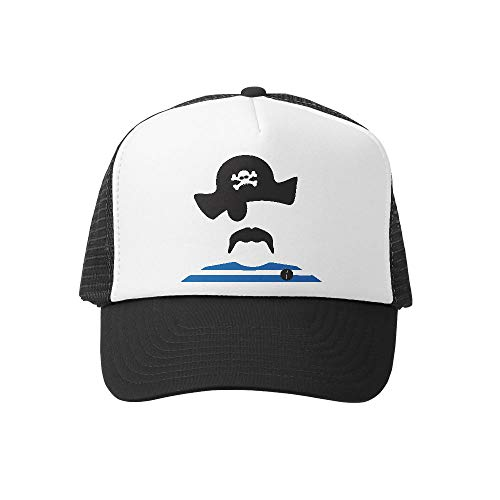 (Grom Squad Kids Trucker Hat - Mesh Adjustable Baseball Cap for Boys & Girls - Baby, Infant, Toddler, School-Age Sizes (5-10yrs (Super), Pirate))