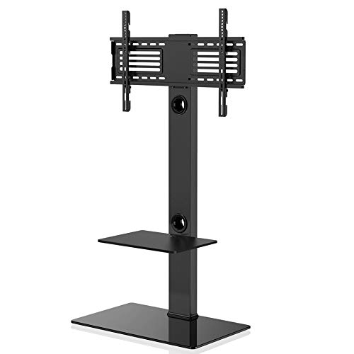 FITUEYES Universal tv Stand with Mount Two Shelves for 32inch to 65inch Sony/Samsung/LG/Vizio TV Swivel Mount TT207001MB