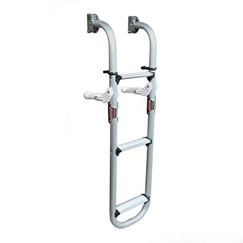 Five Oceans Marine Aluminum Folding Transom Ladder, 3 Step -
