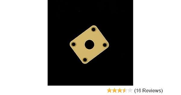 2x Metal Square Guitar Jack Plate Cover für LP Style E Gitarre Schwarz