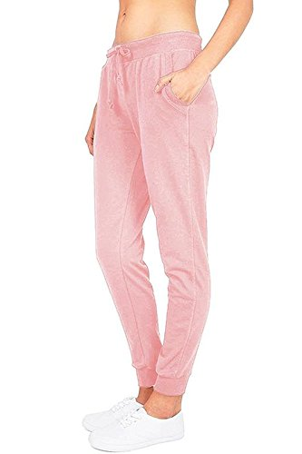'Ambiance Women\'s Juniors Soft Jogger Pants (Medium, Mauve)'