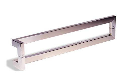 "36/"" Square Door Pull Handle Modern Long Entry Pulls Stainless Steel Rectangular"
