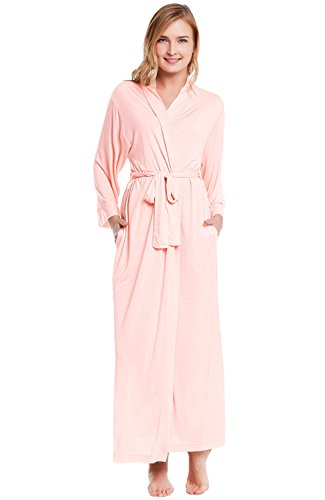 Del-Rossa-Womens-Modal-Knit-Robe-Full-Length-Loungewear