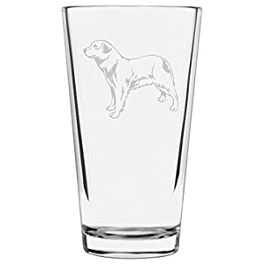Aidi Dog Themed Etched All Purpose 16oz Libbey Pint Glass 1