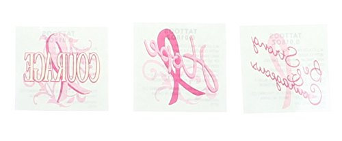 Inspirational Breast Cancer Awareness Tattoos (6 Dozen) - BULK