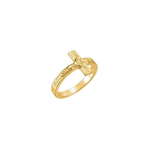14K Yellow Ladies Crucifix Chastity Ring Size 6 STU-R16613KIT (Crucifix Chastity Ring)
