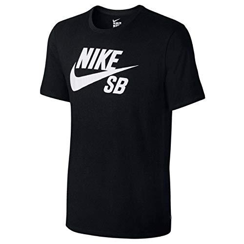 Nike Mens SB Logo T-Shirt Black/White X-Large