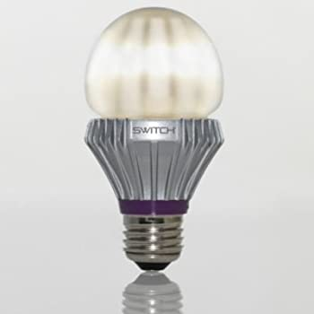 SWITCH Lighting A21081FA1-R Classic A19 LED Light Bulb with 40-Watt Replacement and Frosted Lens, Soft White (2700K)