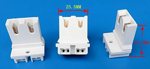Kamas 500pcs T8 G13 Aging lamp holder Easy to use fixed fast - (Color: WHITE, Base Type: G13)