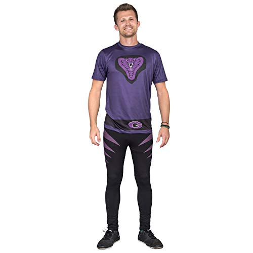 Dodgeball Purple Cobras Adult Halloween Costume Set (Adult X-Large)]()