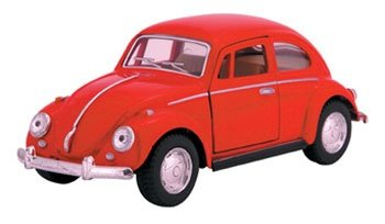 Die Cast 1967 Volkswagen Classical Beetle car, 1:32 scale - Available in Red, Black, Yellow or Blue - Only one included - 32 Red Diecast Car