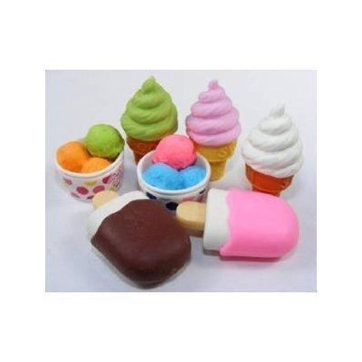 Iwako Japanese Eraser / Ice Cream 7Pcs. by Iwako