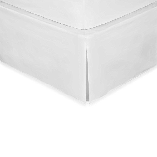 [Wrap-Around Wonderskirt CAL KING Bed Skirt in WHITE] (Easy King Of Hearts Costume)
