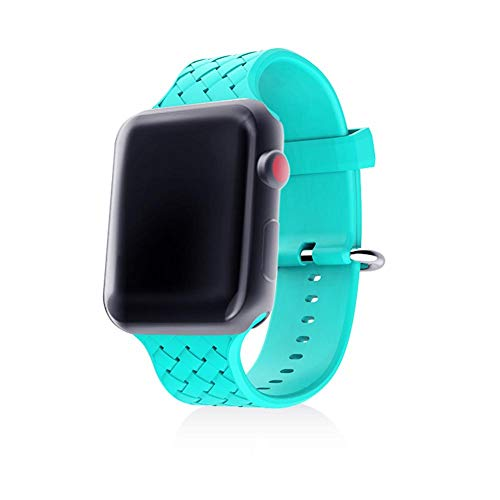 Price comparison product image Watch Straps Silicone Watch Bands Release Straps Reusable Fastening Cable Strap Soft Rubber Replacement 38mm 42mm Watchband for Apple Watch 1 2 3