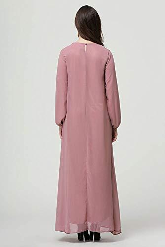 Larga musulmán Polvo Nacional Cómodo Vestido Keephen Manga qTx4BnwIpE