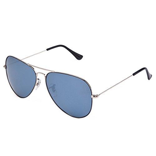 MT MIT Classic Aviator Polarized Mirrored Lens Sunglasses for Men Women 100% UV Protection