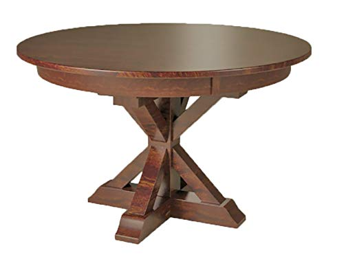 X-Base Single Pedestal 4 Foot Round Dining Table - Two 12