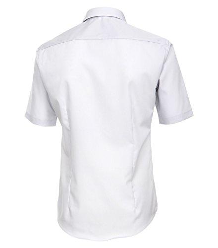 Venti - Slim Fit - Bügelfreies Herren Kurzarm Hemd in diversen Farben (001620), Kragenweite:36;Farbe:Grau (700)
