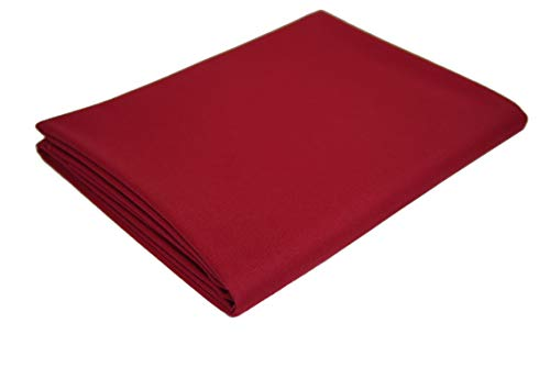 7' Burgundy Pool - CPBA Competition Worsted Professional Pool Table Cloth - Fast Speed High Accuracy Pre-Cut Bed and Rails ([Competition Grade] Burgundy, 7' Pool Table)