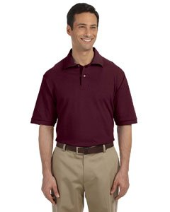 Jerzees Men's 100% Ringspun Cotton Pique Knit Sport Shirt - Maroon, 2XL