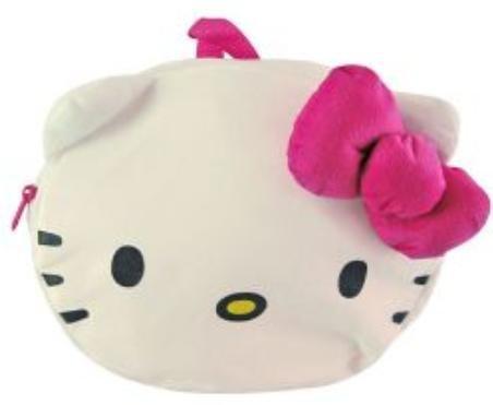 Hello Kitty Plush Faceバックパックwith調節可能なストラップ11