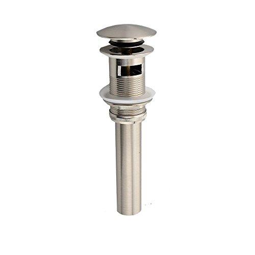 CRACCO SPA Bathroom Faucet Vessel Vanity Sink Pop Up Drain Stopper with Overflow Brush Nickel ()