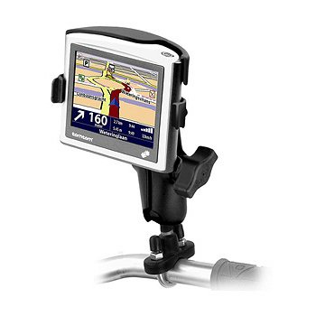 Ram Mount Handlebar Rail Mount with Zinc Coated U-Bolt Base for the TomTom on E 2/3rd Edition/Version