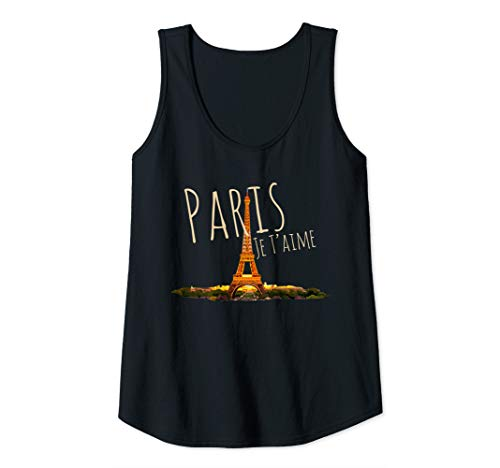 Womens Paris Je T'aime - France Eiffel Tower Souvenir Gift Tank Top