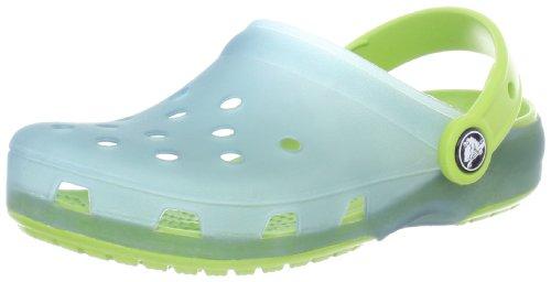 Crocs 12220 Clog (Toddler/Little Kid),Light Blue/Volt Green,C10/11 M US Toddler (Light Footwear Toddler Blue)
