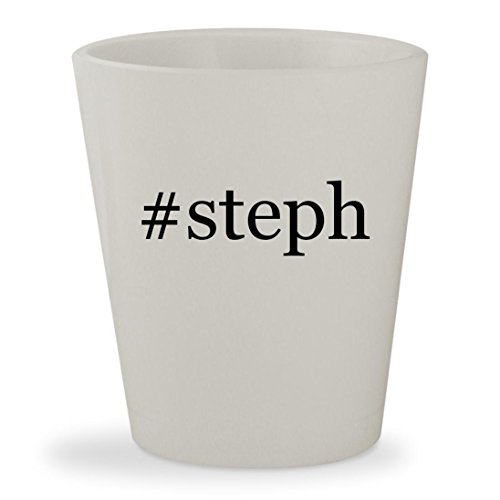 #steph - White Hashtag Ceramic 1.5oz Shot Glass