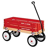 Toy / Game Radio Flyer Town And Country Wagon With Durable Steel Wheels W/ Real Rubber Tires For A Smooth Ride