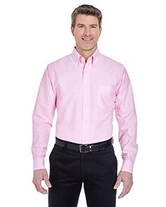 UltraClub� Men's Classic Wrinkle-Free Long-Sleeve Oxford (Pink) (3X-Large)