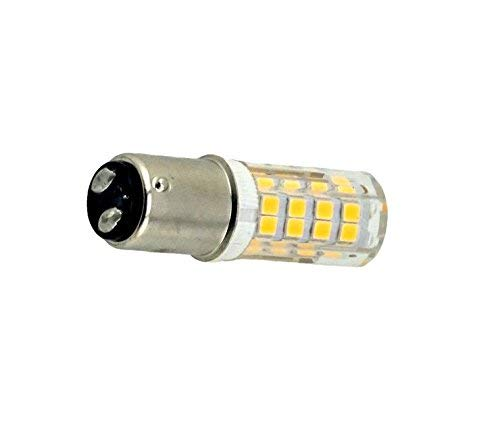 Bonlux BA15d SBC LED Bombilla 220V 4W para Máquina de Coser con Doble Conecto (2-Packs, Luz Cálida, Reemplazo de 35W Halógena): Amazon.es: Iluminación