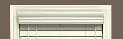 Crown Vinyl Blinds - Delta Blinds Supply Faux Wood Crown Valance ONLY, Pearl White