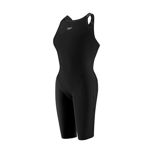 Womens Speedo Swimming Costumes (Speedo Women's LZR Racer Pro Recordbreaker Kneeskin w/Comfort Strap Black 23)