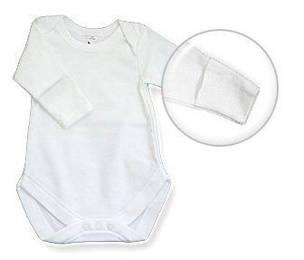 Baby Jay Newborn Infant Round Envelope Neck Onesie Long Sleeve