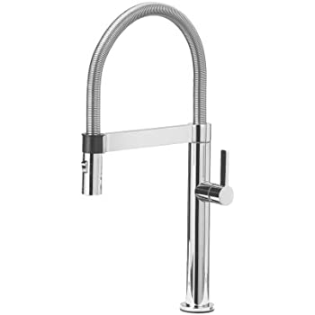 Beautiful Blanco 441622 Culina Mini Kitchen Faucet With Pull Down Spray, Small, Chrome