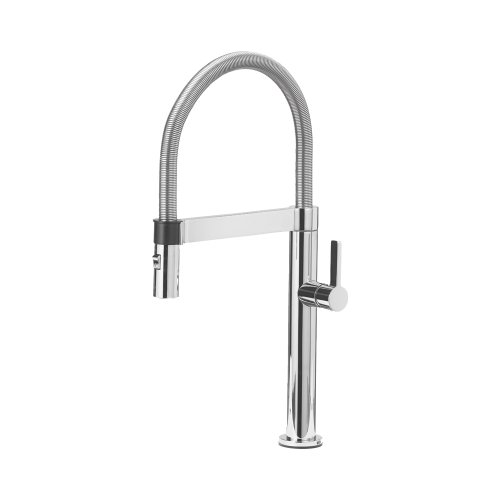 Blanco Chrome Spray Faucet - Blanco 441622 Culina Mini Kitchen Faucet with Pull Down Spray, Small, Chrome, 2.2 GPM,