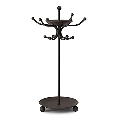 Unique Two Tier Black Iron Jewelry Holder – Includes Trays for Rings and Earrings, Bracelets – Organizes all your Jewelry in (Butterfly Jewelry Dish)