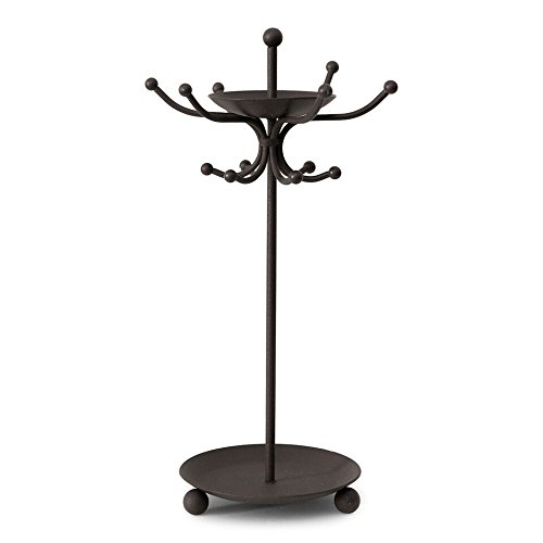 [Unique Two Tier Black Iron Jewelry Holder – Includes Trays for Rings and Earrings, Bracelets – Organizes all your Jewelry in] (Homemade Unique Couples Costumes)