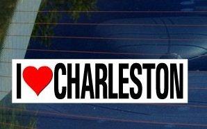 I Love Heart CHARLESTON - Window Bumper - Market Charleston Sc In