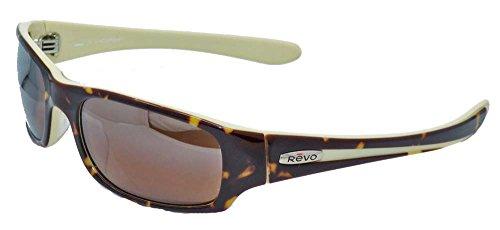 Revo Men's Checkpoint RE2043-03 Polarized Rectangular Sunglasses,Tortoise Cream Frame/Bronze Lens,one - Revo Sport