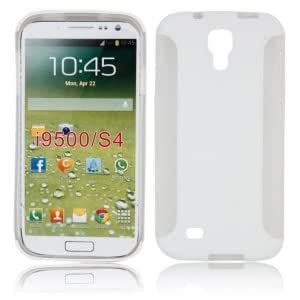 Two Pieces Set TPU + PC Protective Case for Samsung i9500 White
